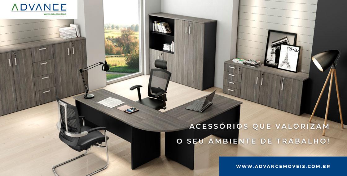 Tipos de acessórios para escritório que valorizam o ambiente em que você trabalha.