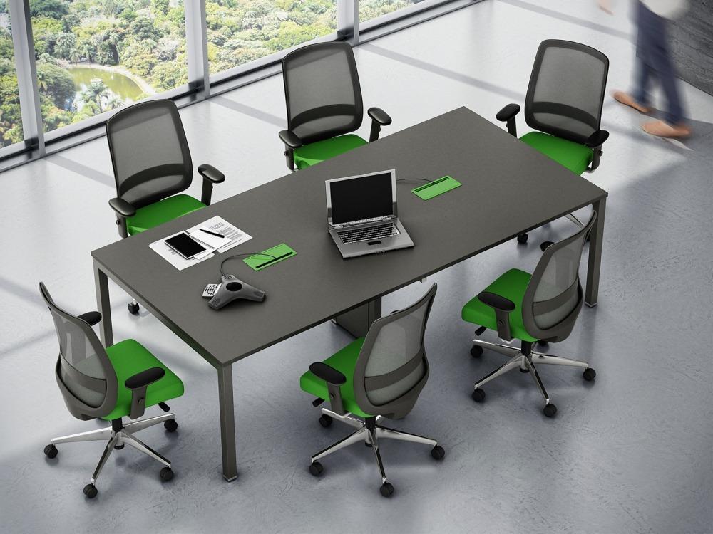 Mesa de Reunião Pé Trave Linha Work Pro Advanced Marzo Vitorino