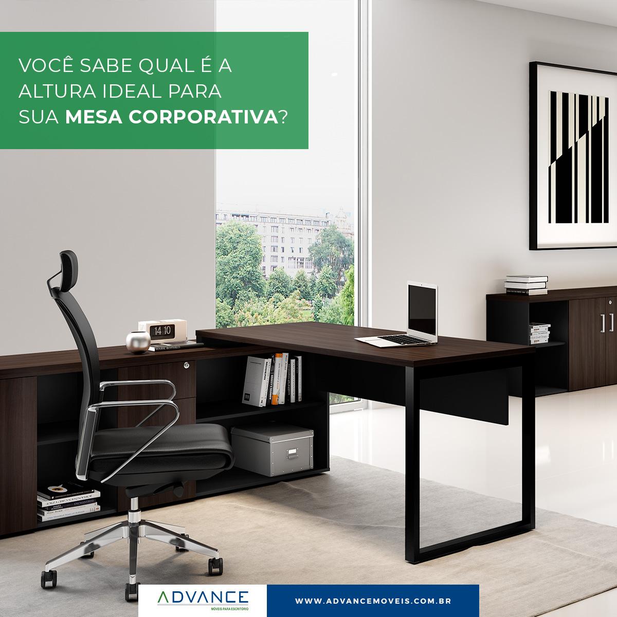Você sabe qual é a altura ideal para sua mesa corporativa?